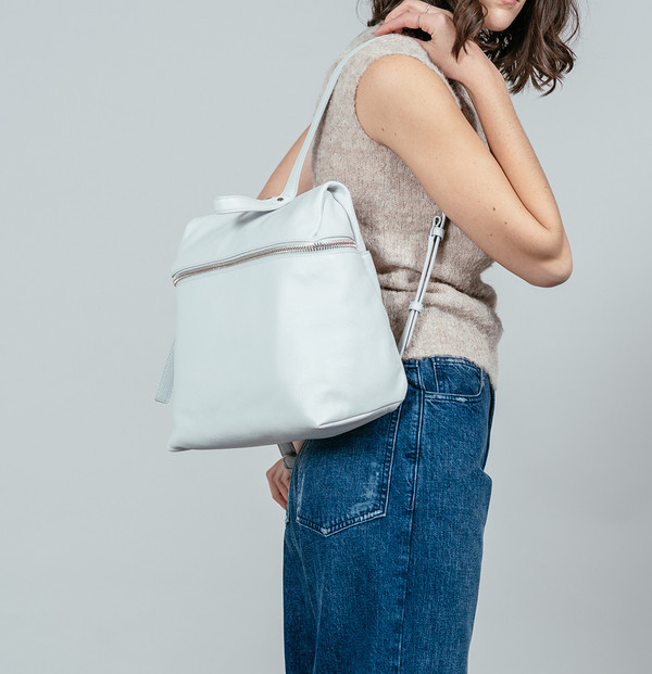 KARA Backpack in Pebble Leather
