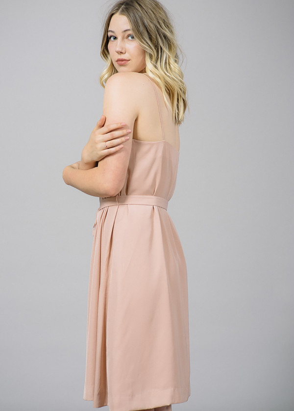 Whyred Cory Blush Slip Dress