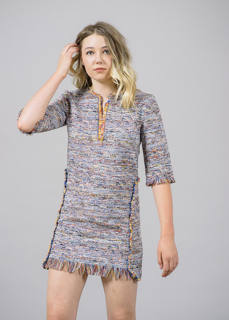 Nanushka Dakota Ethnic Woven Mini Dress