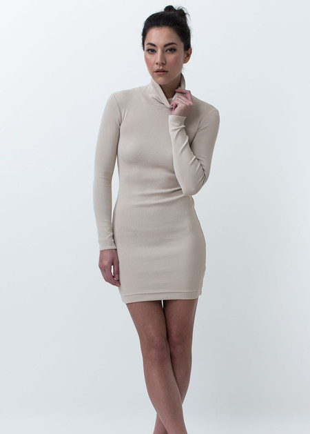 Nanushka Malin High Neck Fitted Dress