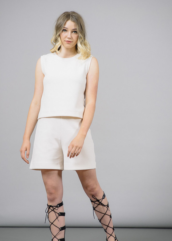 Storm & Marie Morris Sleeveless Top in White