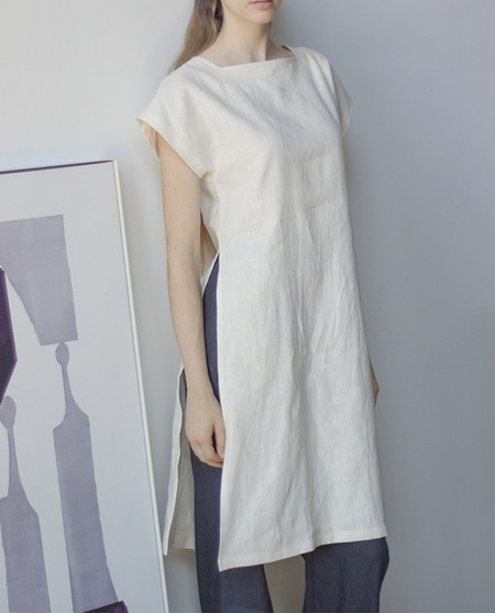 Sunja Link Tunic In Ivory