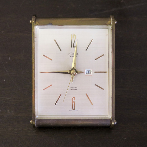 brass desk clock