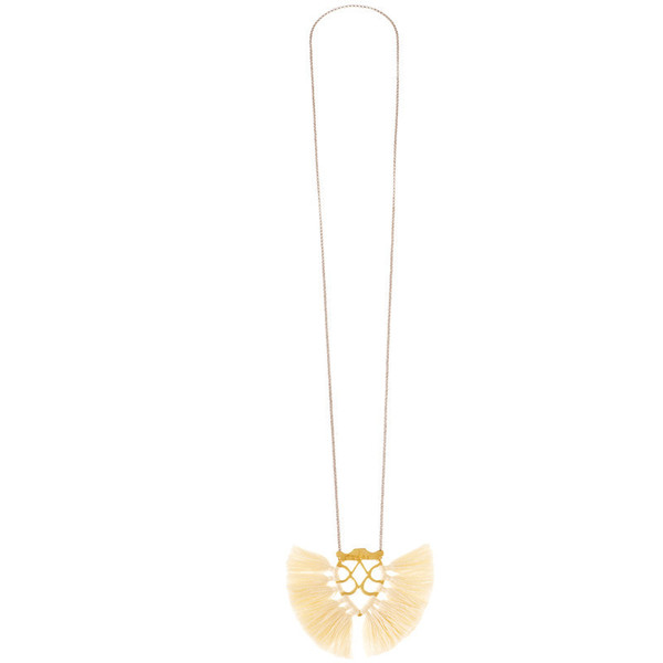 Krysos + Chandi Jya Cream Tassel Necklace