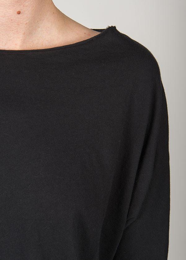 Black Crane - Short Sleeve Wide Crew in Black