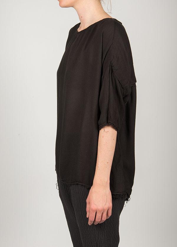 Black Crane - Square Top Short Sleeve in Ebony