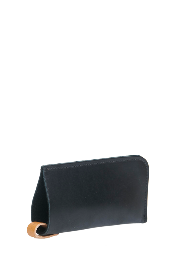 Eyeglass sleeve black leather