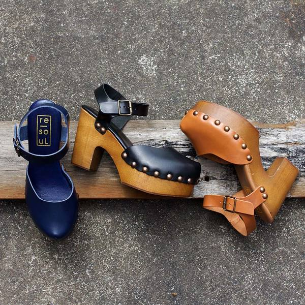 re-souL Tilda - Navy Clog
