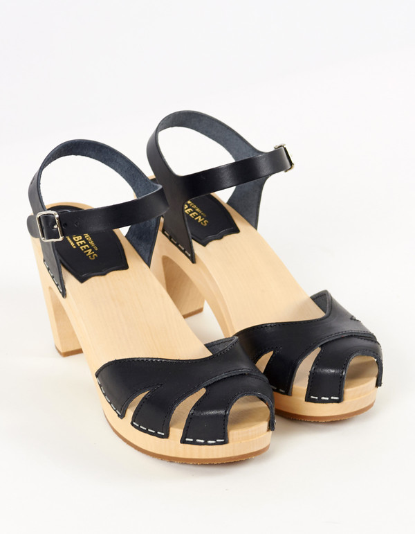 Swedish Hasbeens Suzanne Clog Black