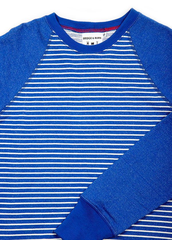 Men's Bridge and Burn - Crew Neck Sweater in Stripe