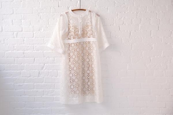 warm white magic dress