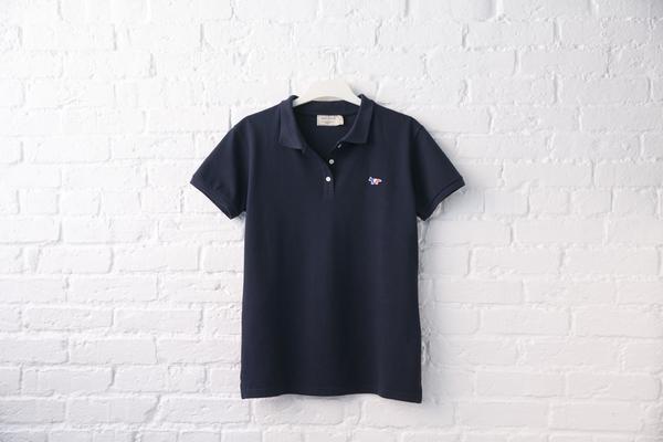 maison kitsuné polo shirt