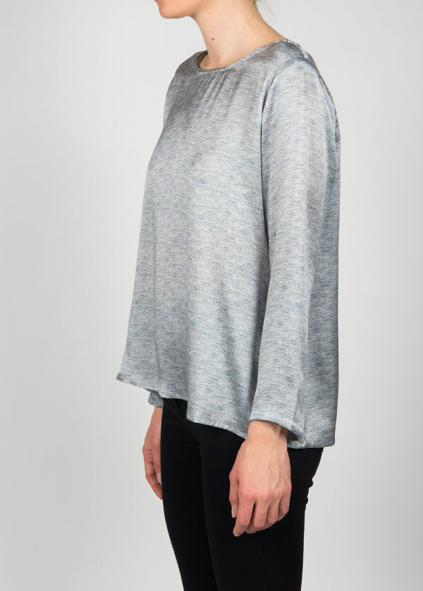 Dolan - Long Sleeve Crewneck Pullover in Heather Print