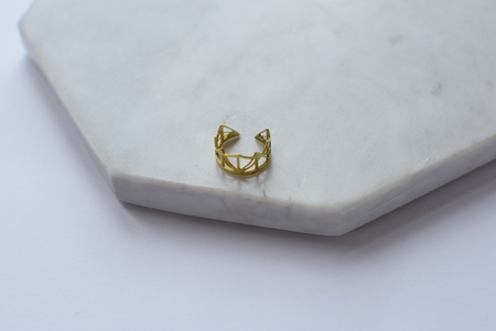 Maija Brianne Brass Bridge Ring 2