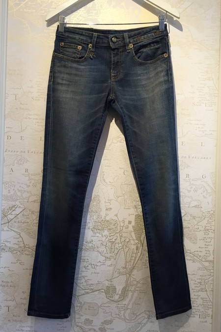 R13 'Kate' skinny in dark denim