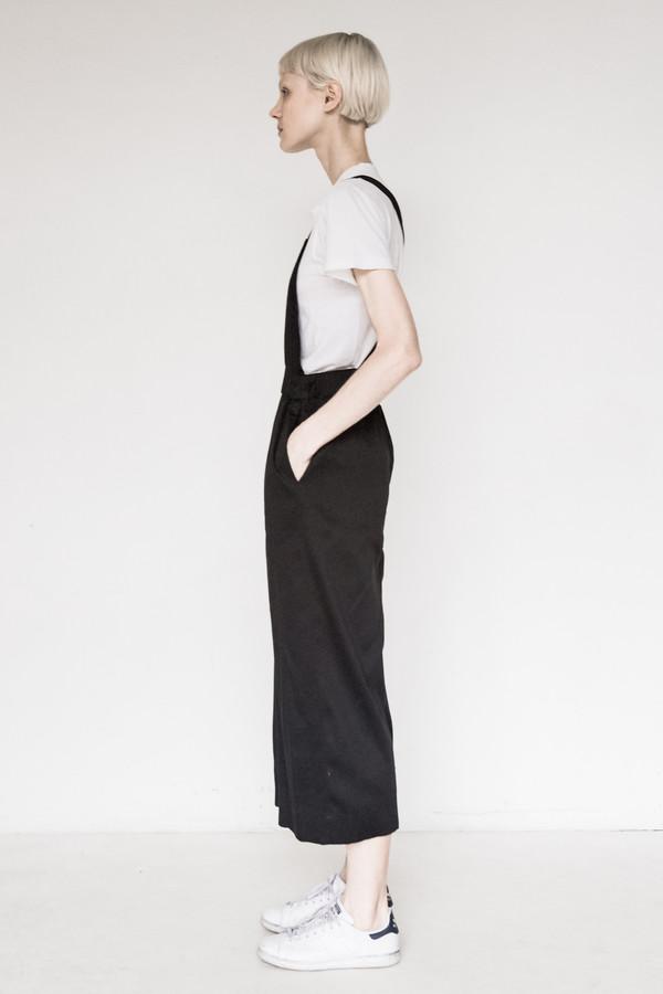 Index Cotton Black Overalls