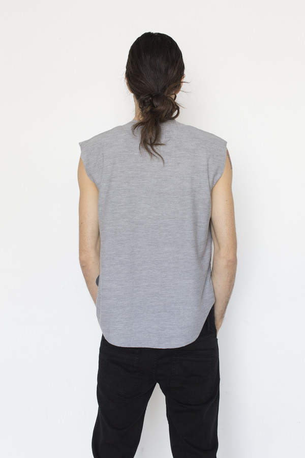 Assembly New York Cotton Muscle Tee - Grey