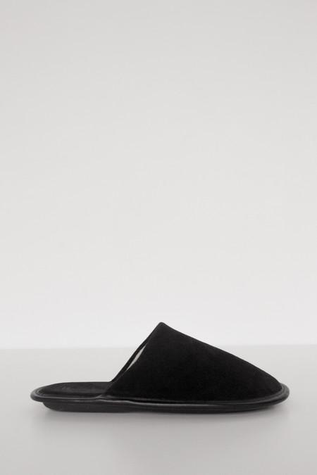 Men's Lisa B. Suede Slipper - Black