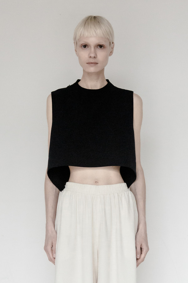KAAREM Polyester Chime Collar Top