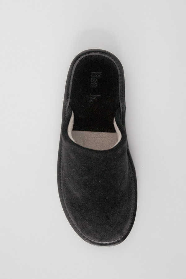 Lisa B. Women Suede Slipper - Black