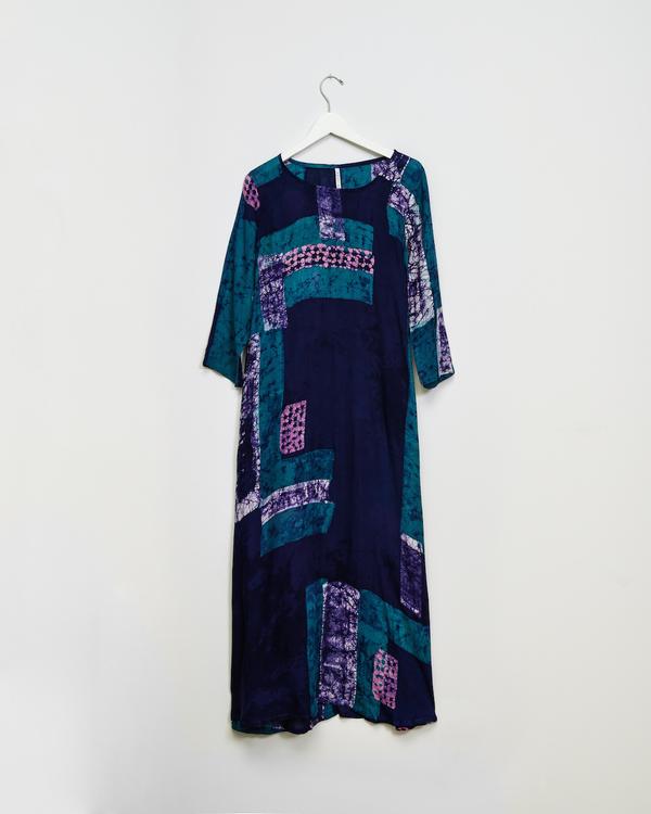 Osei-Duro Nima Long Dress in Navy Rubics