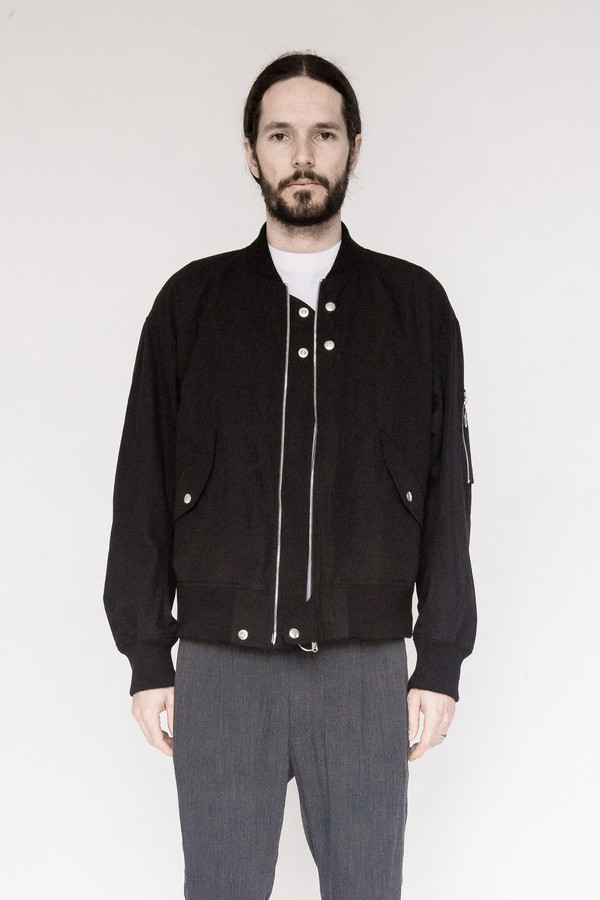 Fingers Crossed Cotton Bomber Jacket