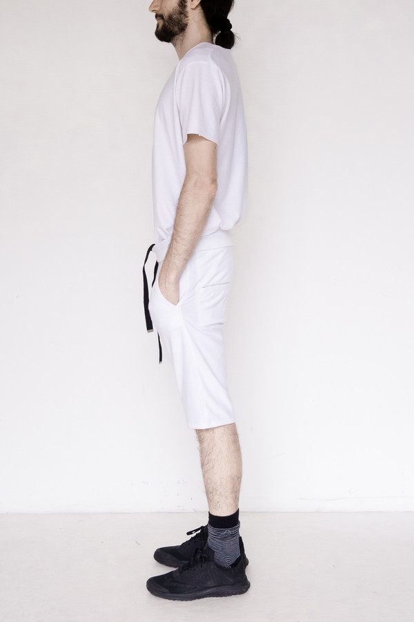 Assembly New York Cotton Sweat Short - White