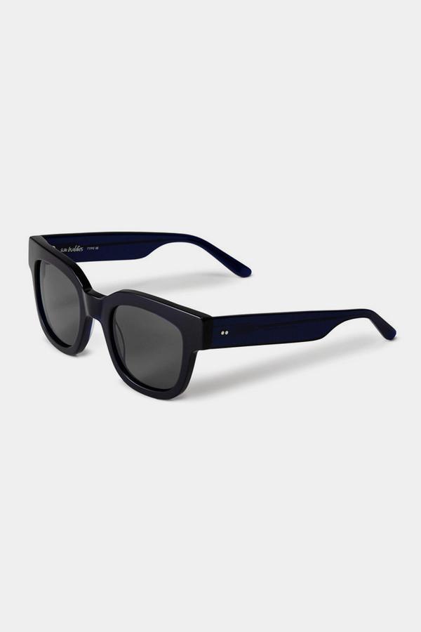 Sun Buddies Type 05 Sunglasses - Very Dark Blue