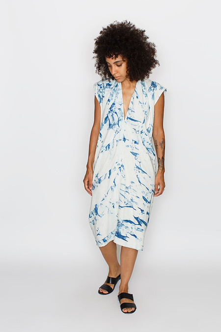 Miranda Bennett Everyday Dress, Silk Noil in Arashi
