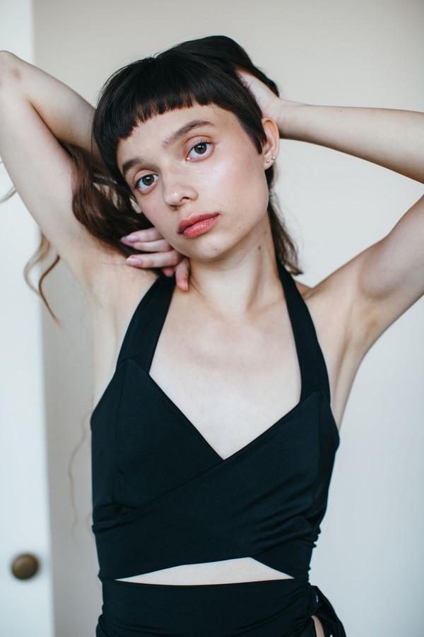 Samantha Pleet Whirl Swimsuit - Black