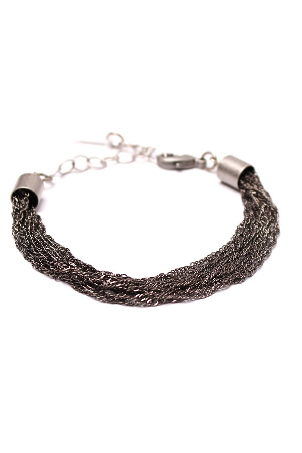 Grayling Menara Bracelet in Gunmetal/Antique Silver