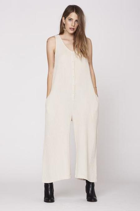 LACAUSA  Wildflower Jumpsuit- Natural