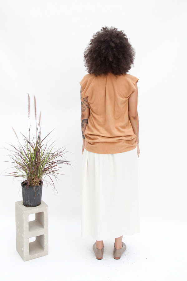 Miranda Bennett Camel Everyday Top | Silk
