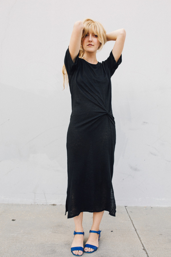 Objects Without Meaning Twist Tee Dress, Black