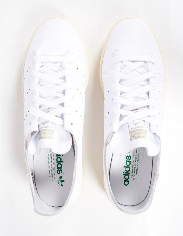Adidas Men's Stan Smith Lea Sock White Green