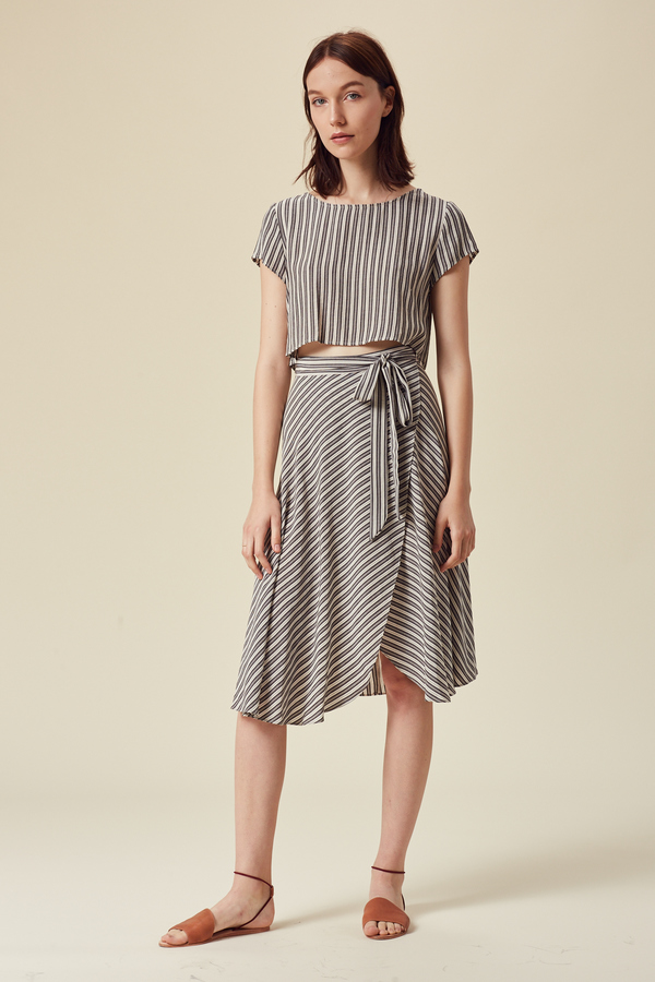 Stil. San Pedro Skirt in Stripe