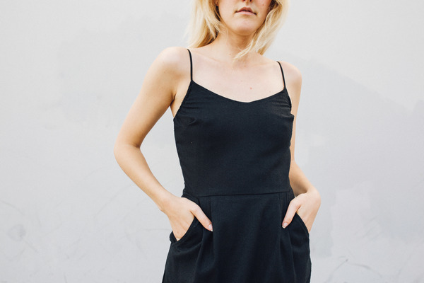 Objects Without Meaning Strappy Dress, Black Noil