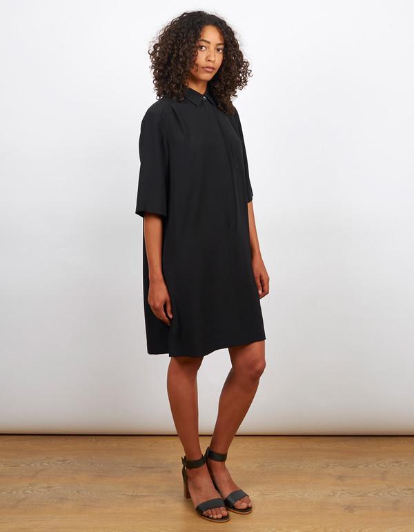 Filippa K Drapey Pull On Shirt Dress Black