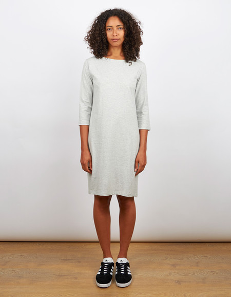 Kowtow Building Block Boat Neck Dress Grey Marle