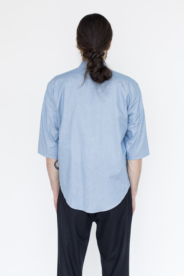 Assembly New York Chambray Noncollar Shirt