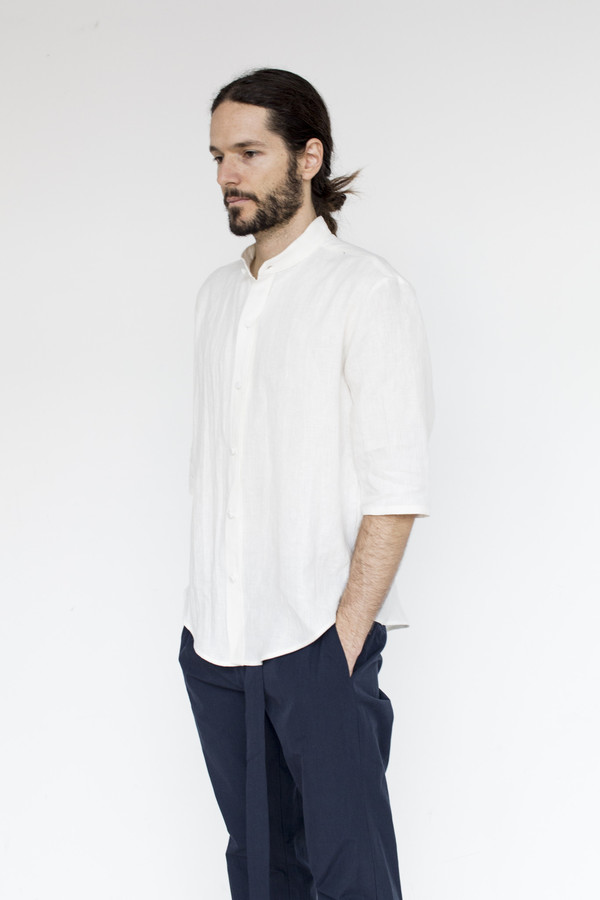 Assembly New York Linen Noncollar Shirt