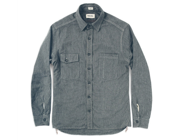 Men's Taylor Stitch The Utility Shirt in Salt & Pepper Chambray