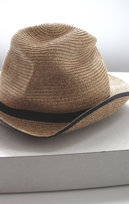 Mature-Ha Wheat Hat with painted black band