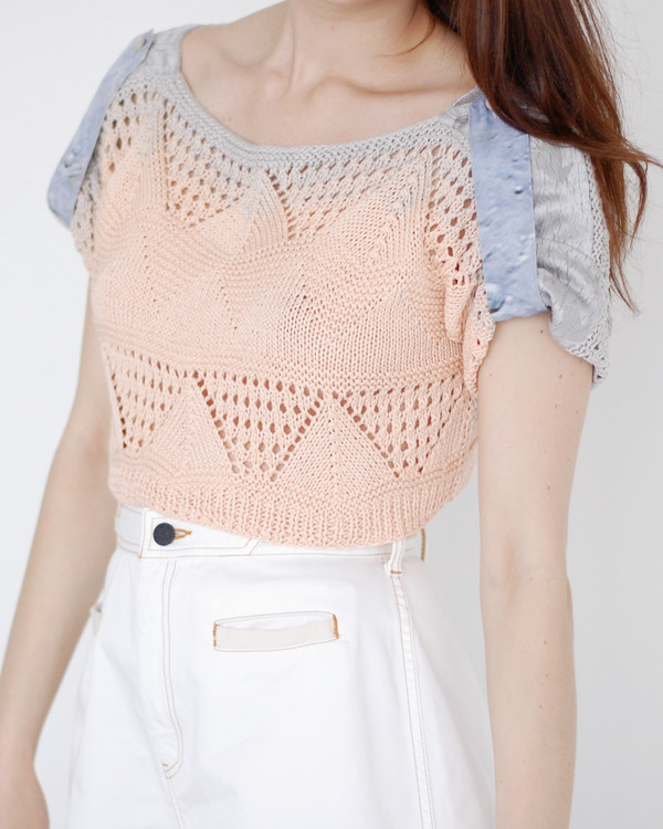 Risto Crochet Cropped Sweater