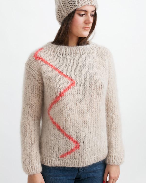 Maiami Mohair Zig-Zag Sweater