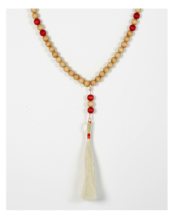 Fredericks & Mae Worry Beads in White and Red