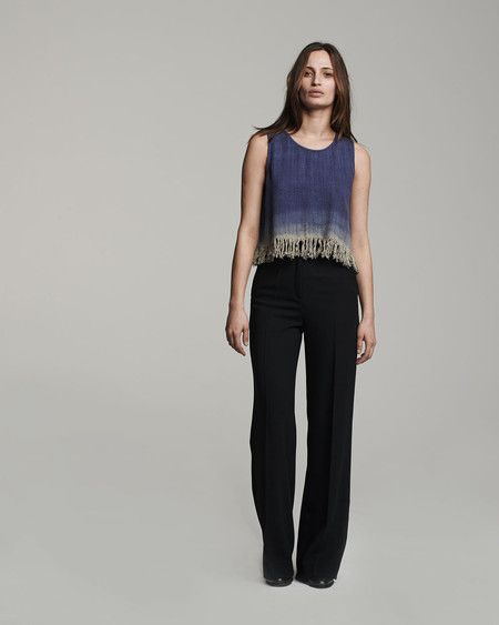 VOZ Apparel Dip Dye Fringe Top