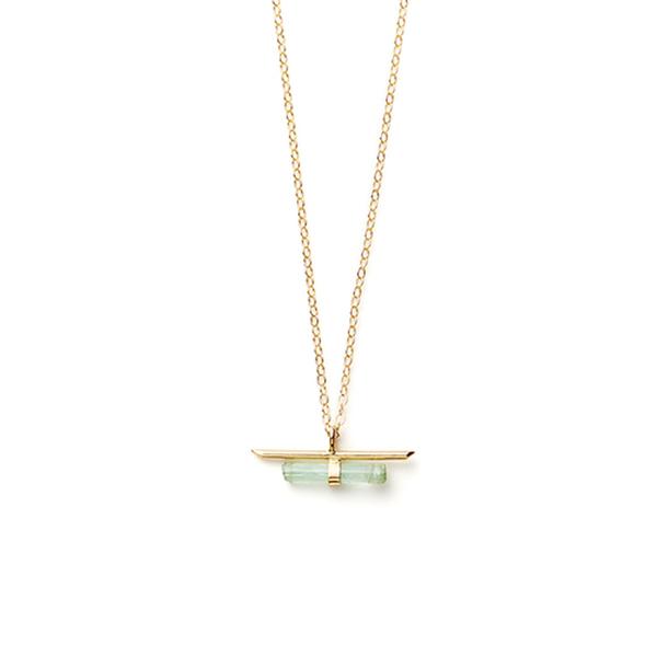 Jené DeSpain Nova Bar Necklace in Goldfill