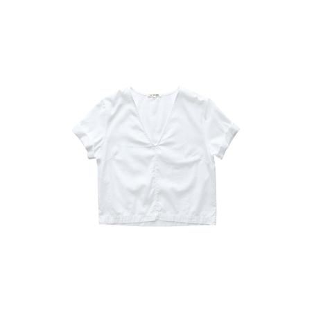 ALI GOLDEN V-NECK TOP - WHITE