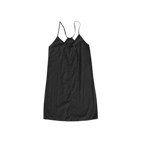 ALI GOLDEN SLIP DRESS - BLACK